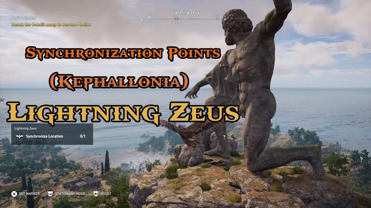 Assassins Creed Odyssey - Climbing Lightning Zeus - PC 4K