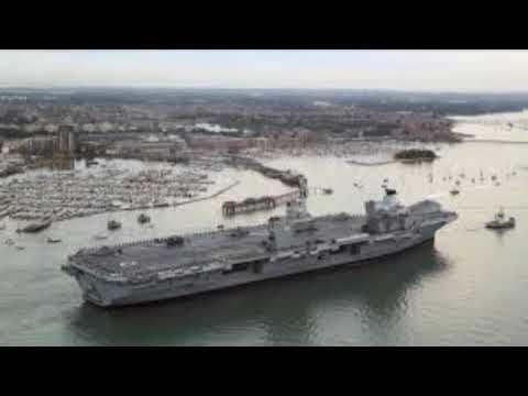 British WARSHIP HMS Queen Elizabeth Arrives in Portsmouth!!!