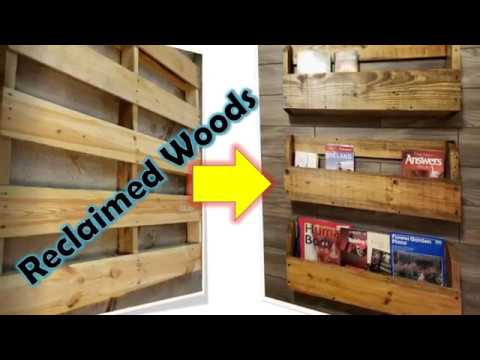 Book Shelves - DIY how to make bookshelves with reclaimed woods, pallet wood working #diypalletwood