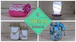 4 Ideas con Botes de Cristal ♻️ ♻️
