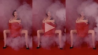ceft and company: smoke never underdressed ad with model cris herrmann director karen collins Thumbnail