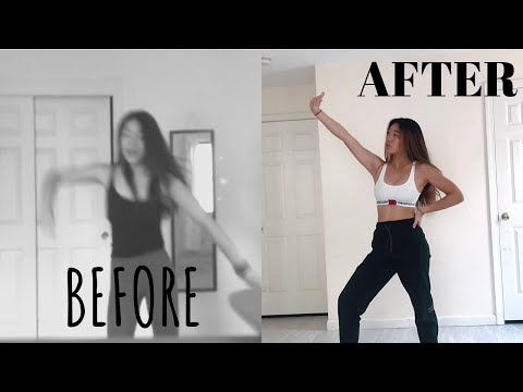girl teaches herself to dance | 1 year dance transformation + glow up