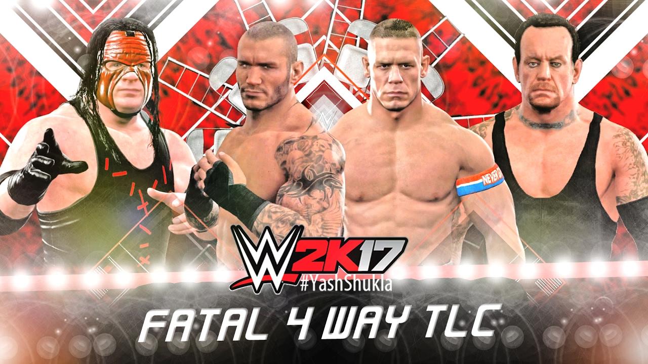 TLC FATAL 4 WAY - WWE 2K17 John Cena vs Randy Orton vs