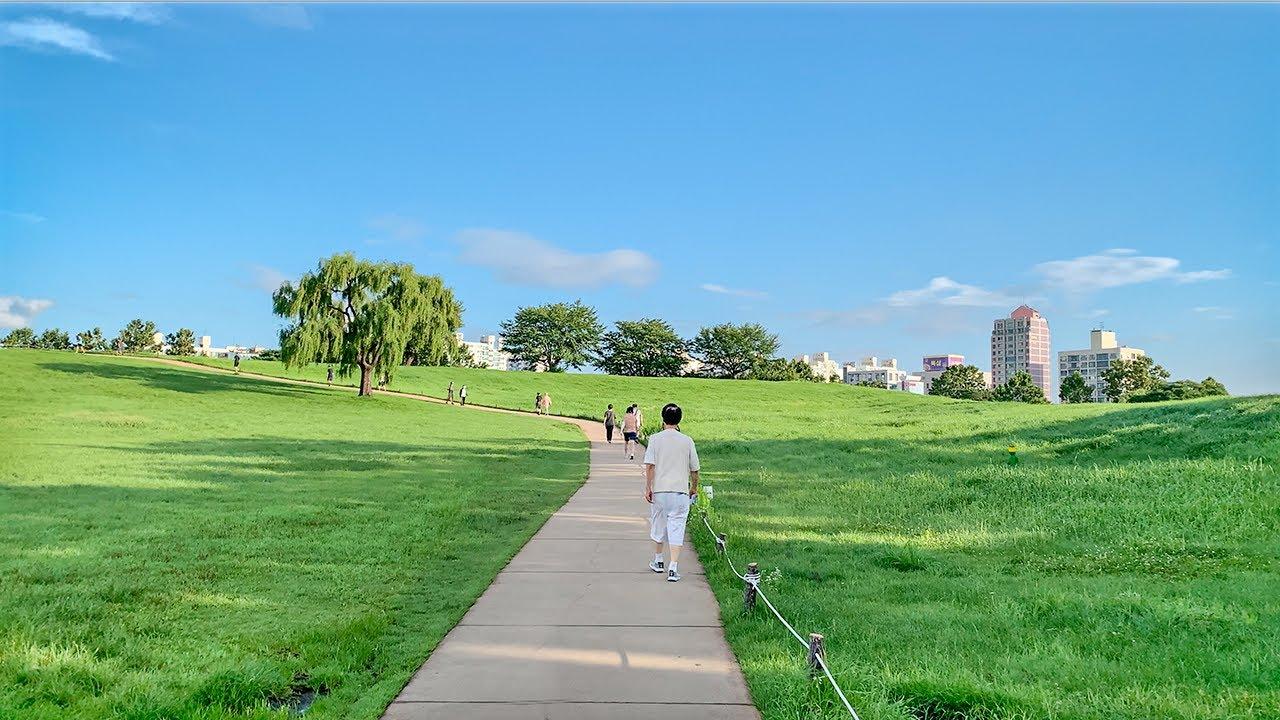 [4K] Early Morning Walk Seoul Olympic Park and Lotte World Tower in Seoul 이른 아침 서울 올림픽공원과 롯데월드타워 걷기