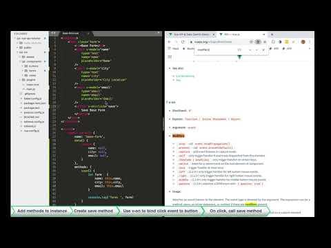 Learn vue js ~ Lesson 5: methods, events, & modifiers thumbnail