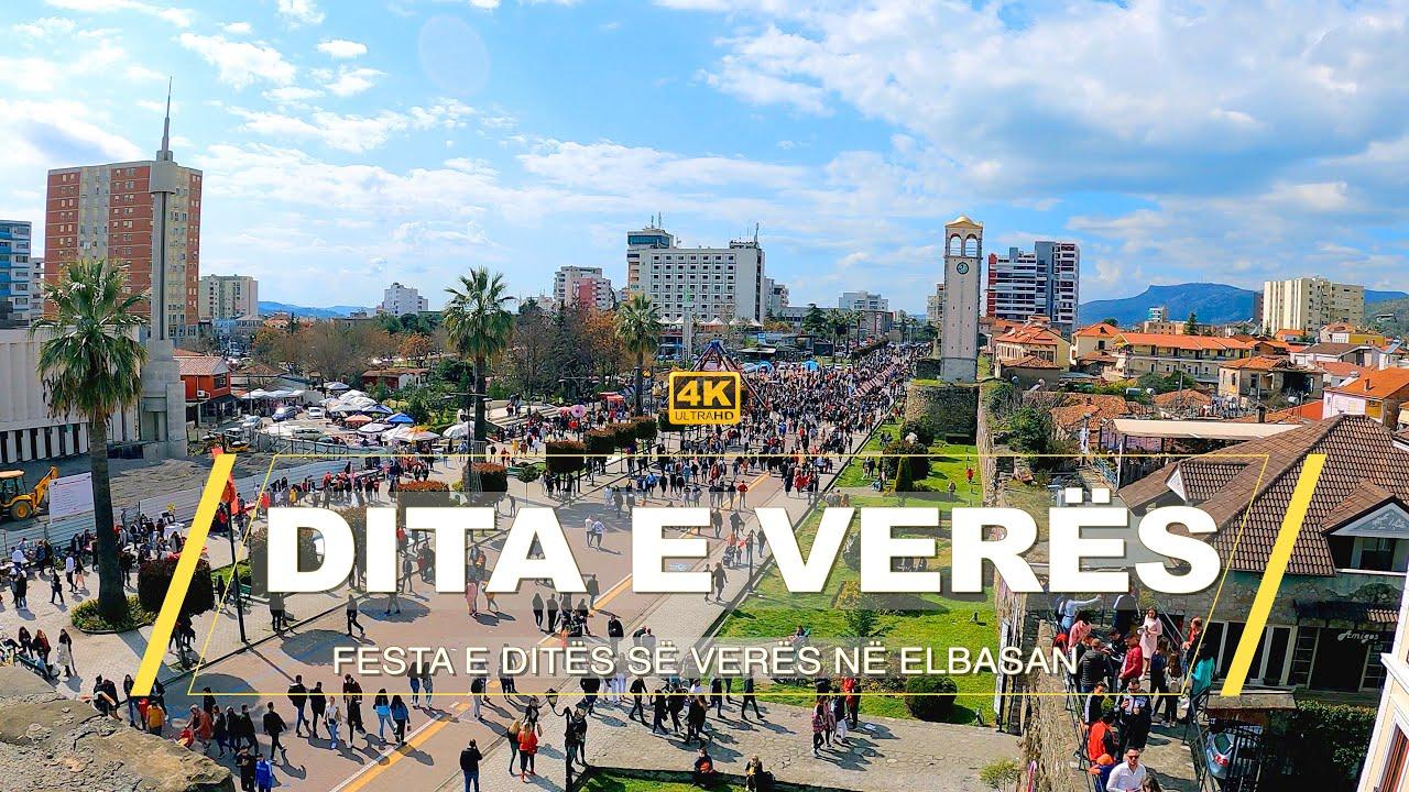 """DITA E VERËS – FULL VIDEO 4K """"LIVE"""" ECJE VIRTUALE – VIRTUAL WALKING🇦🇱🎬🌞"""