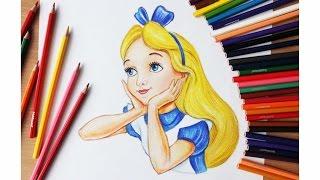 Уроки рисования. Как нарисовать Алису (Алиса в стране чудес) | Art School