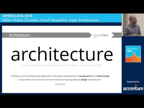 ARCHITECTURE - Milan Rubes - Agile Architecture