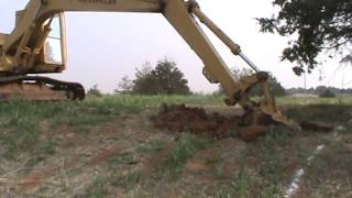Digging Basement with Catepillar Trackhoe and John Deere 310 Backhoe #2