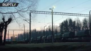 Военная техника НАТО прибыла в Латвию