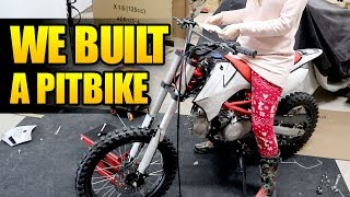 BUILT A PITBIKE! APOLLO X18 125CC - NICK BUNYUN GARAGE