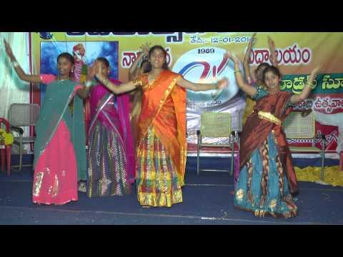 "Silver jubilee celebrations ""indradanassulo"" Song || Nagarjuna vidyalayam & Modern Public School"