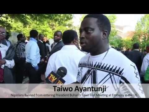 How Nigerians Were Banned From Entering President Buhari's Town Hall Meeting [Watch Video]