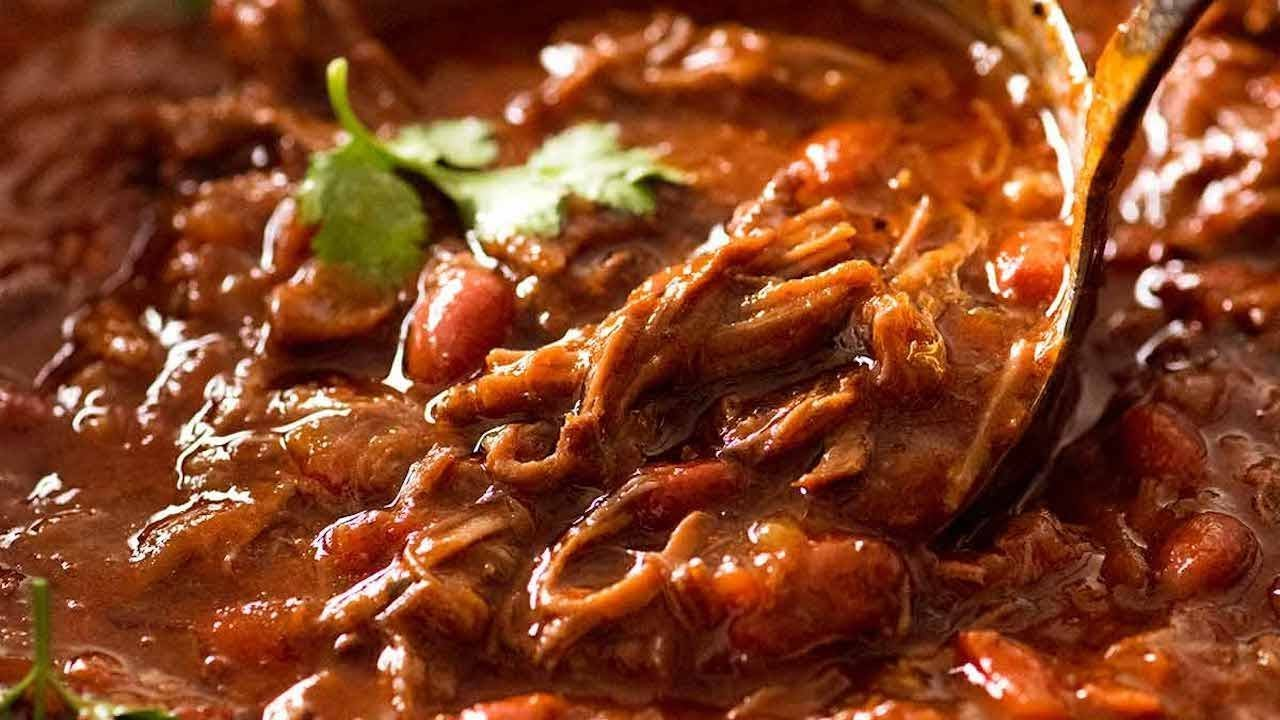 Slow Cooker Shredded Beef Chili Recipetin Eats