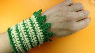ЗУБЧАТАЯ КАЙМА крючком Crochet border edging  урок вязания крючком 368