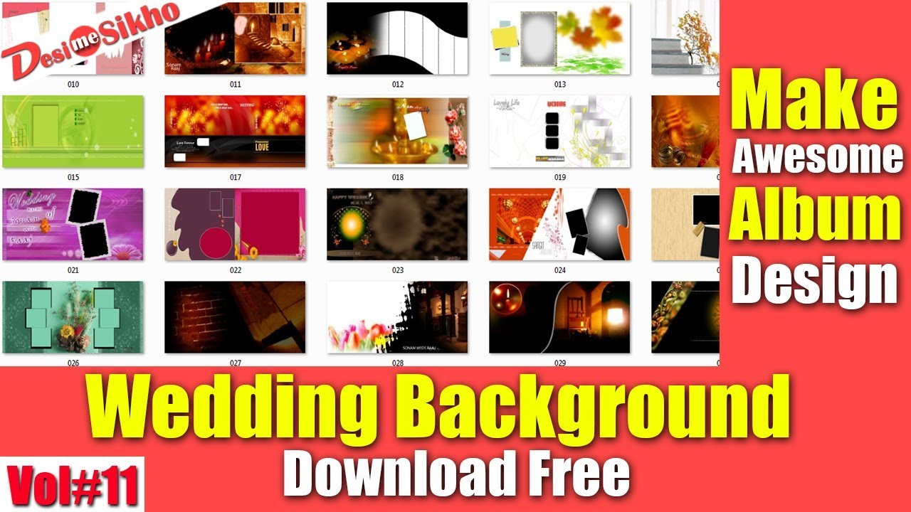 Wedding Karizma Album Background For Photoshop Download Free Vol 11