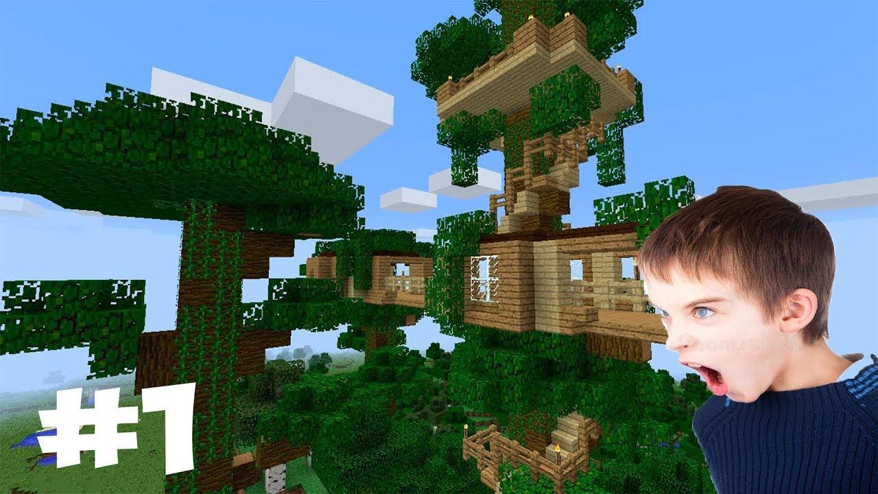 Постройка дома на дереве в картинках майнкрафт