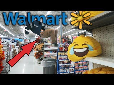 BACKFLIPS IN WALMART!