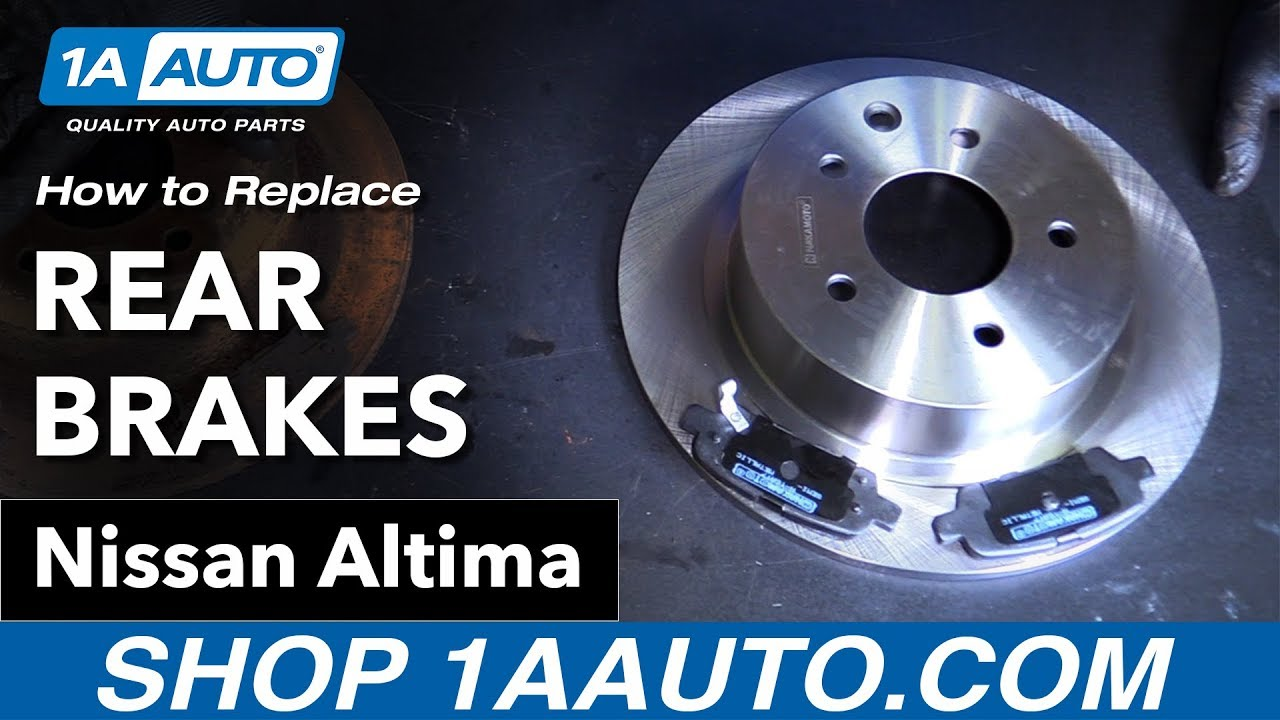 How To Replace Rear Brakes 02 15 Nissan Altima Youtube Caption Diagram Of The Basic Front Disc Brake Setup Arotor B