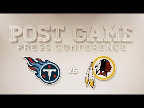 Redskins vs. Titans Post Game Colt McCoy Press Conference