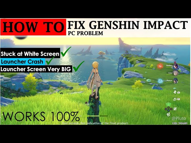Fix Genshin Impact Pc Problem Screen Very Big Youtube