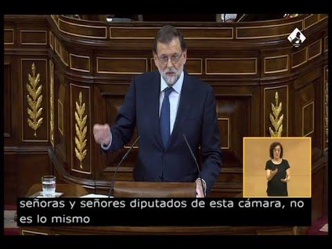 Rajoy pregunta a Puigdemont si declaró la independencia