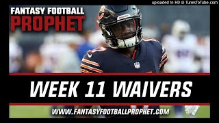Week 11 Waiver Wire - Fantasy Football Podcast 2018