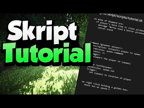 Minecraft Skript Tutorial: The Basics | Minehut (July 2019)