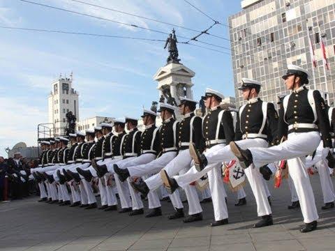 Armada de Chile:Ceremonia Naval-21 de Mayo 1995.Parte 1