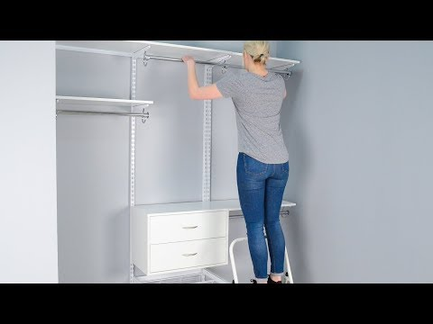 How To Install Organized Living's FreedomRail Closet System