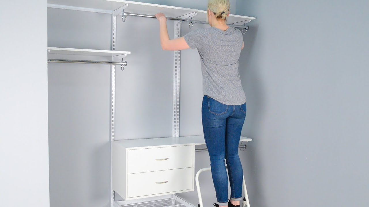 How To Install Organized Livingu0027s FreedomRail Closet System