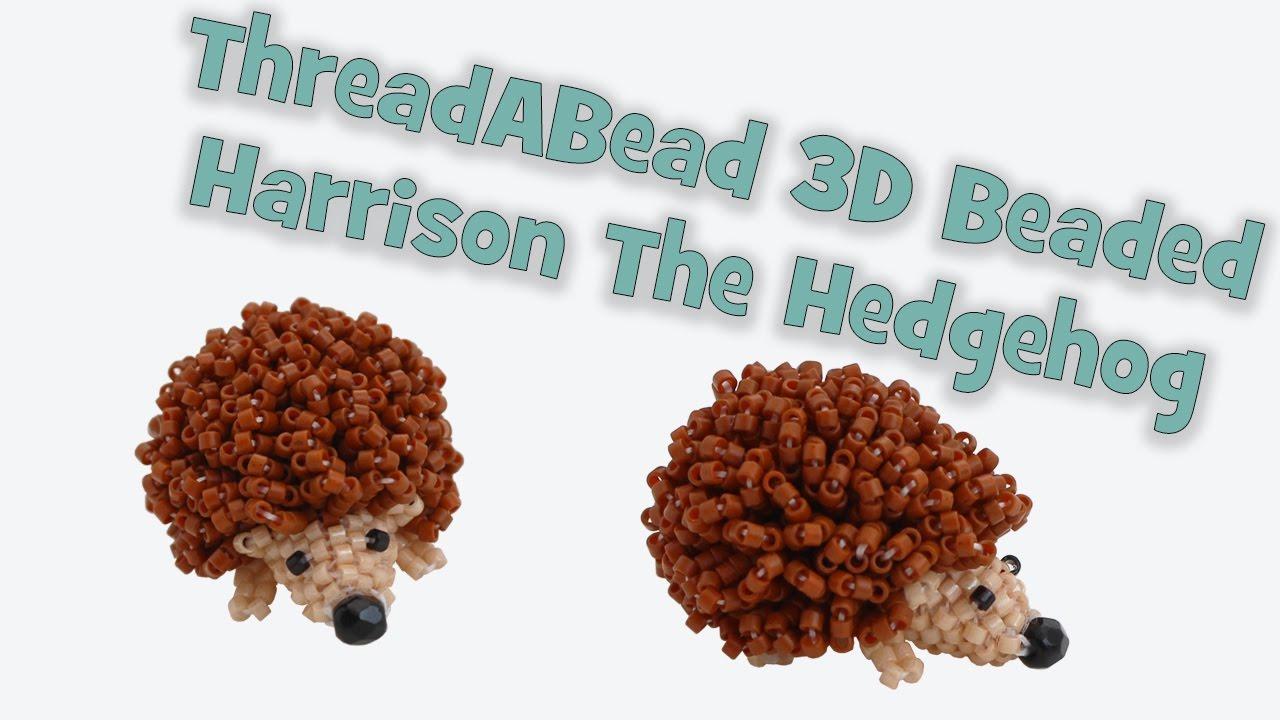 3D Beaded Harrison the Hedgehog Bead Pattern