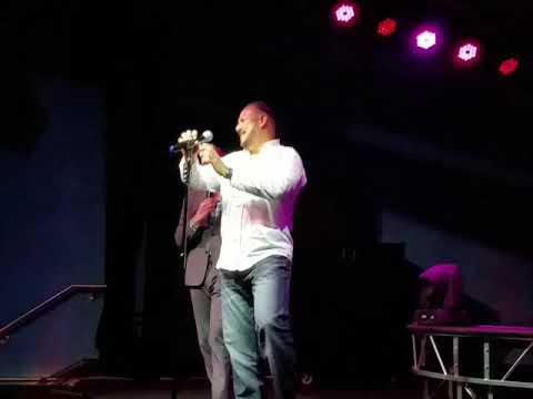 Luis Eduardo sings at the Karaoke World Championship USA Washington State finals