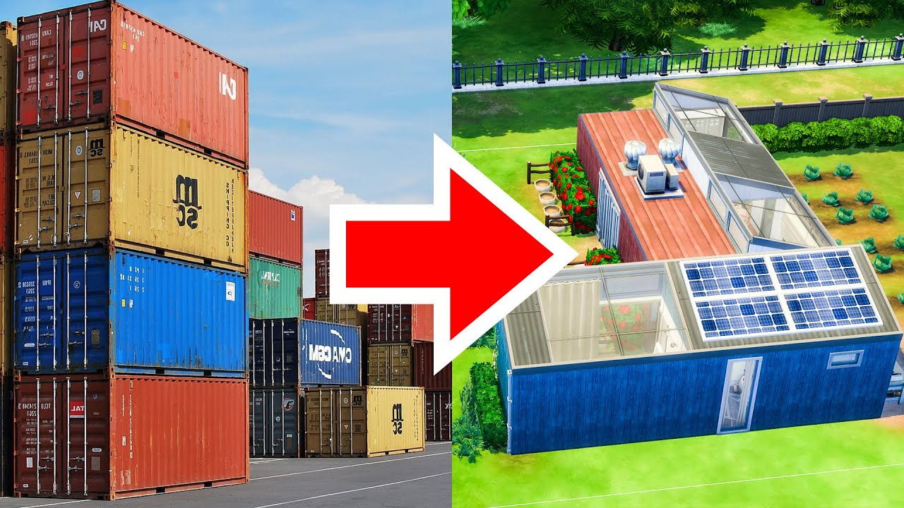 Sustainable Tiny Home In Shipping Containers Sims 4