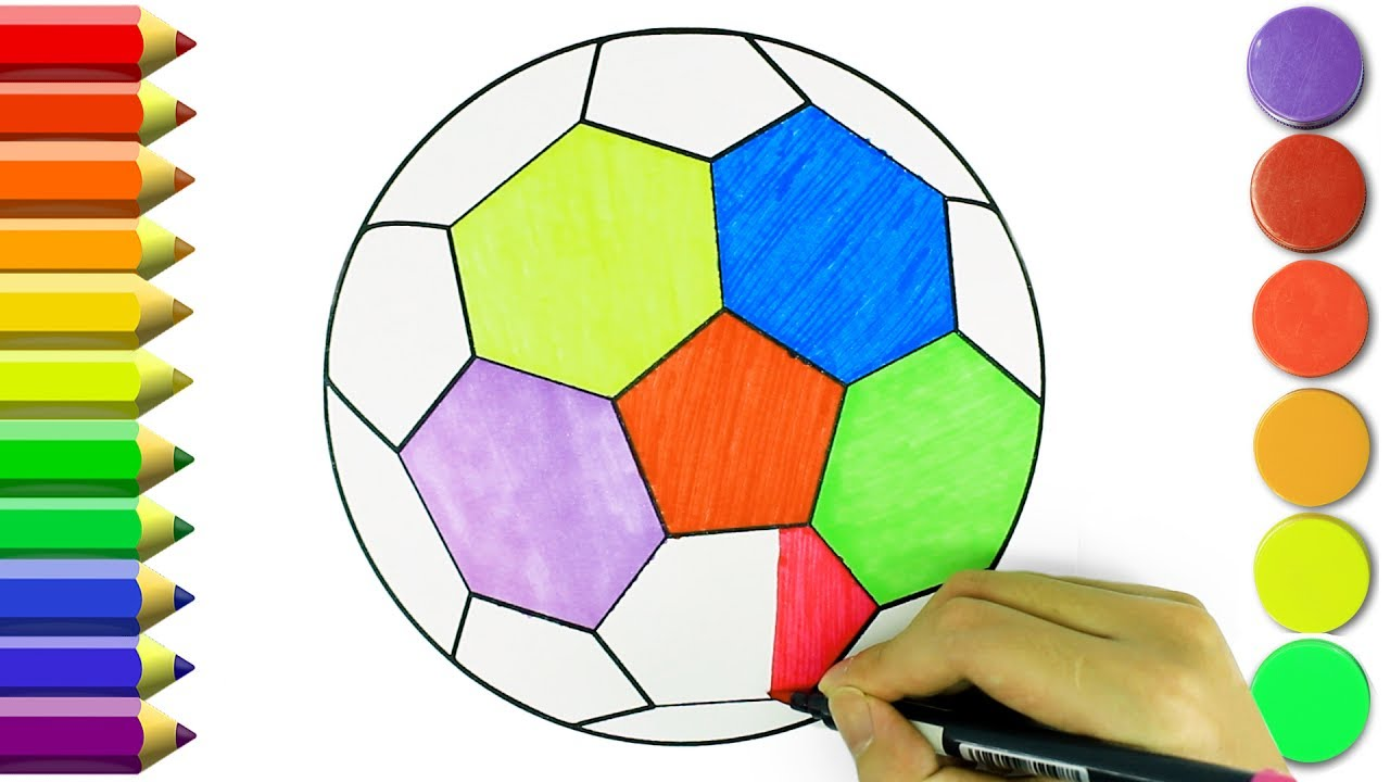 how to draw a soccer ball for kids