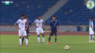 (U-17) Japan 2 India 1 WAFF 2018 日本対インド
