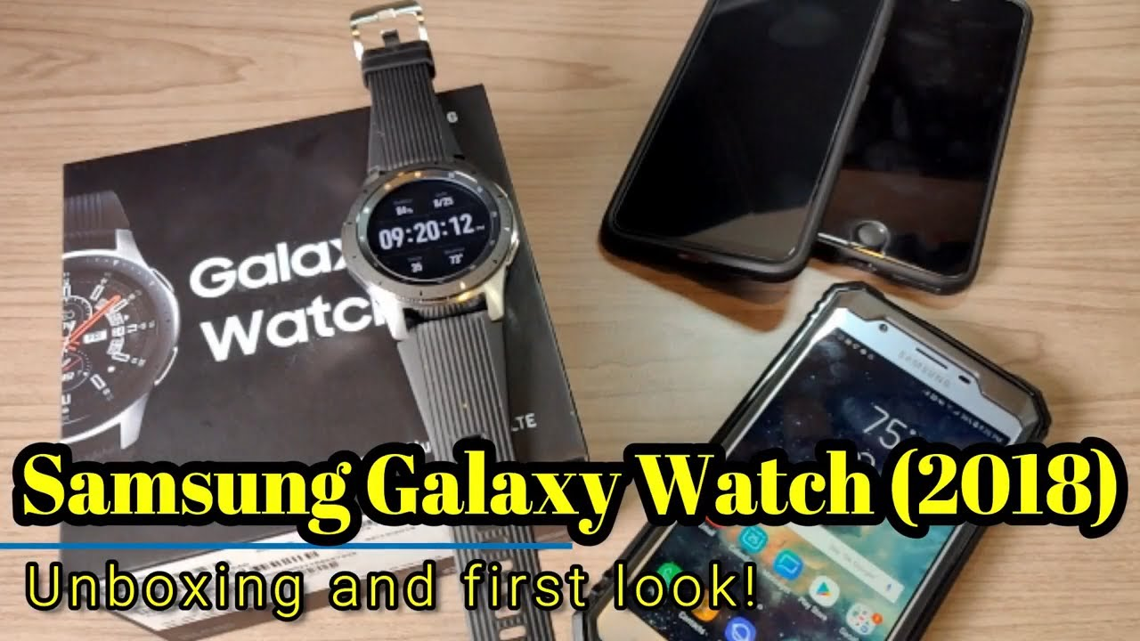 Samsung Galaxy Watch 2018 - Unboxing and first look at the 46mm/LTE version!