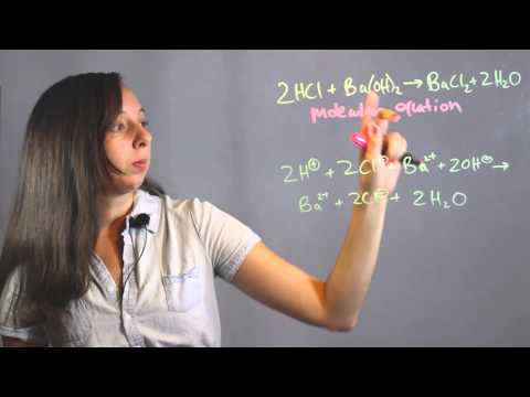 How To Write Net Ionic Equations For Acid Reactions : Chemistry Lessons