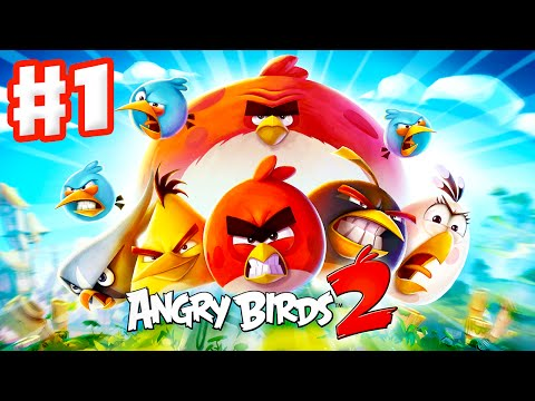 Angry Birds 2 - Gameplay Walkthrough Part 1 - Levels 1-15! 3 Stars! Feathery Hills! (iOS, Android)