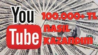 YouTube'dan nasıl 100.000+ TL kazandım? l Clickbait değildir!!