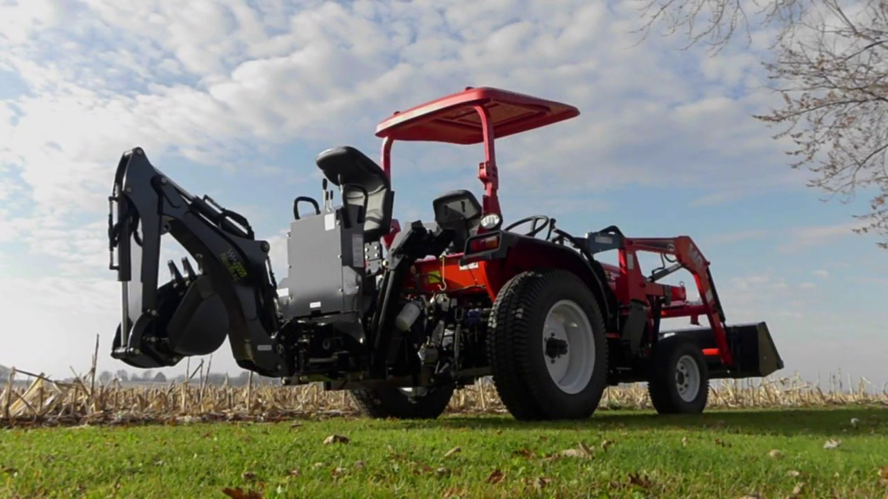 NorTrac 25XT 25HP 4WD Tractor - With Backhoe, Front End ...
