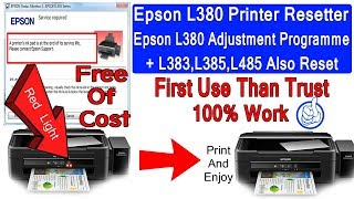 Epson L380 And L383 L385 L485 Inkpad Resetter ADJUSTMENT PROGRAM FREE DOWNLOAD