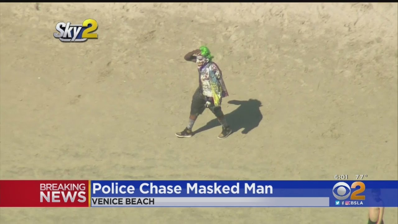 Troublemaker Wearing Joker Mask Creates Mayhem in L A