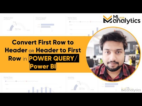Convert First Row to Header OR Header to First Row in Power BI
