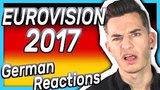 GERMAN reactions to the EUROVISION SONG CONTEST 2017 😡