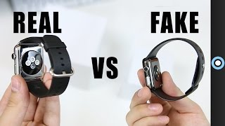Fake vs Real Apple Watch!(This is just to show how crazy close the design on the fake Apple Watch was to the real Apple Watch. Also, be extremely cautious when purchasing Apple ..., 2015-04-26T20:20:01.000Z)