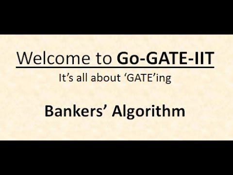 Operating System : Bankers' Algorithm