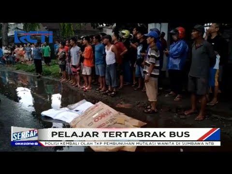 Warga Heboh Pelajar Tewas Tertabrak Bus saat Hujan di Blitar - Sergap 06/01