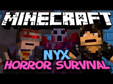 Minecraft Mod Showcase : NYX Horror Survival Mod (Ice & Shadow Dimension)