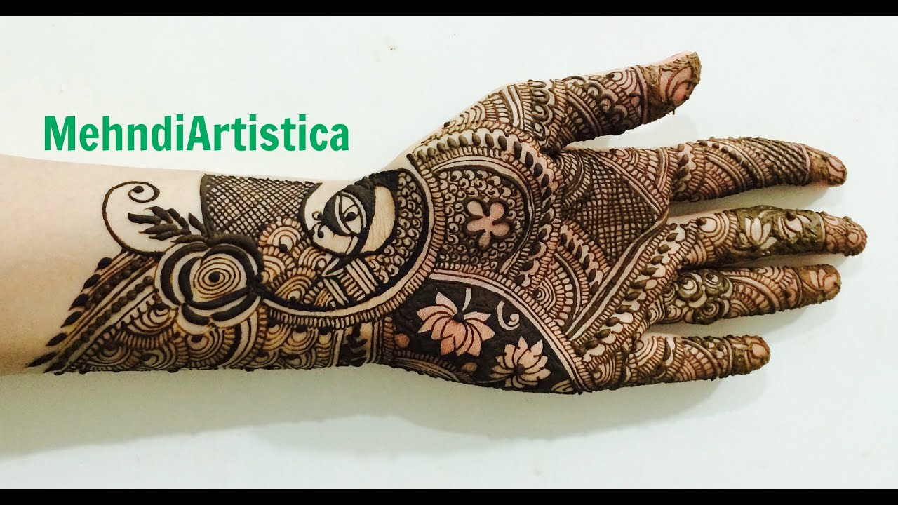 Mehndi Designs Learning Hands : Beautiful intricate indo engagement mehndi designs for hands:learn